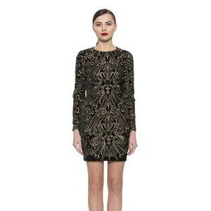 Alexia Admor Embroidered Velvet Sheath Dress 77P